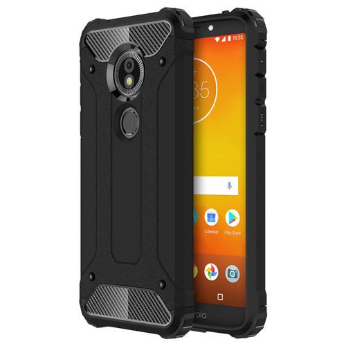 Military Defender Shockproof Case - Motorola Moto E5 / G6 Play - Black